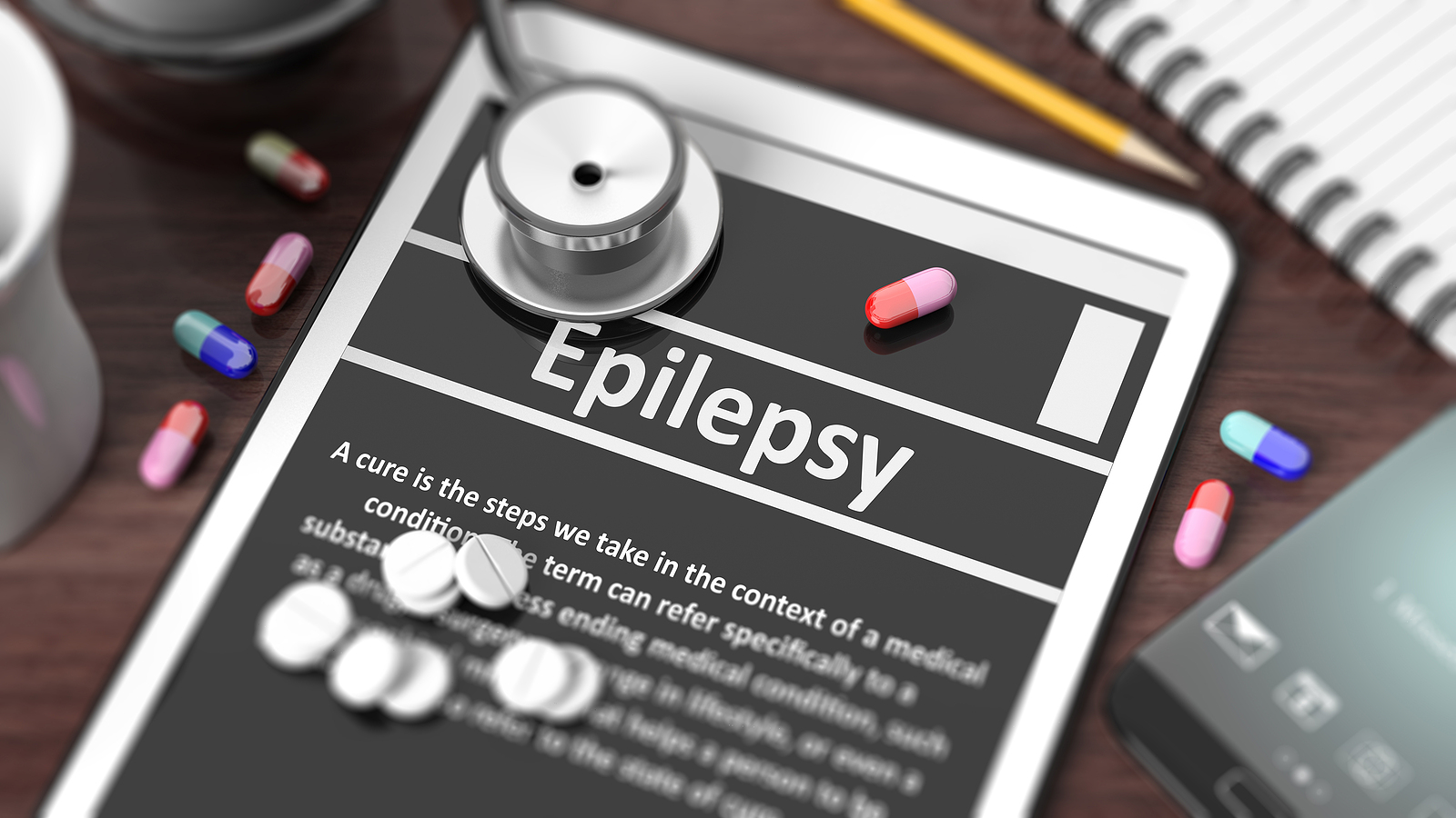 bigstock Tablet with Epilepsy on scre 110156807